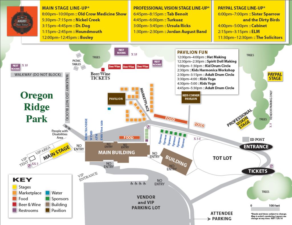 Map of Hot August Music Festival / Professional Vision ...